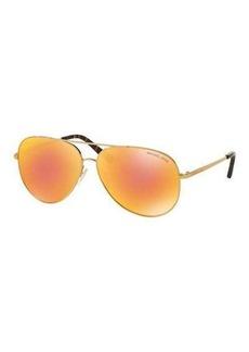 Michael Kors Mirrored Iridescent Aviator Sunglasses