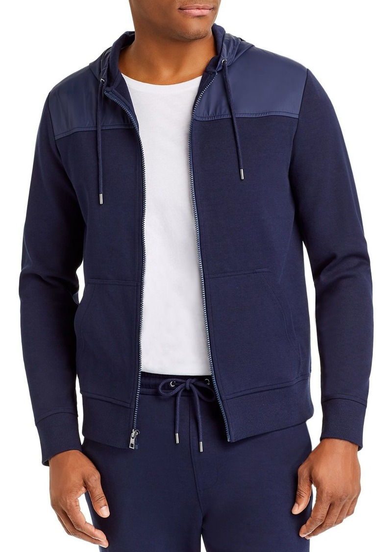 Michael Kors Mixed-Media Hoodie