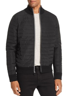Michael Kors Mixed-Media Quilted Bomber Jacket