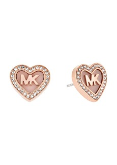 Michael Kors MK Pav� Heart Stud Earrings