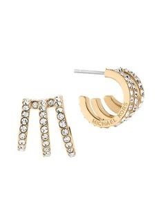 Michael Kors Modern Brilliance Crystal Pavé Huggie Earrings/Goldtone