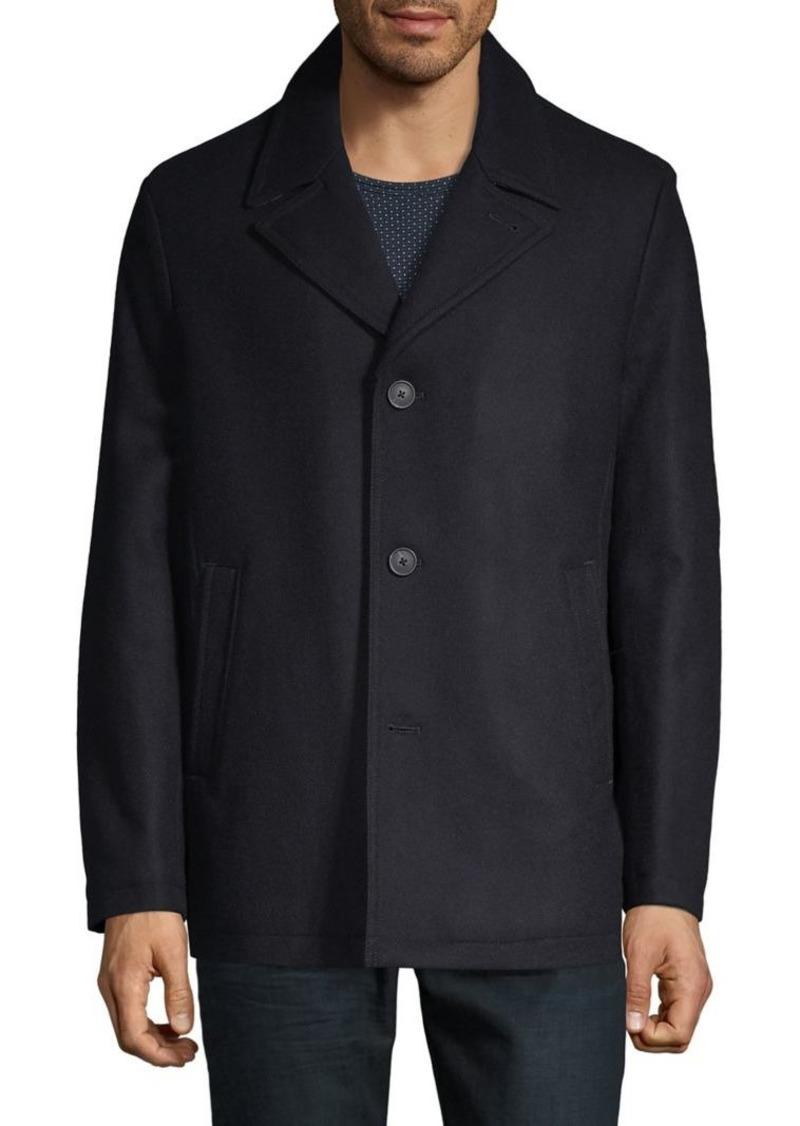 Michael Kors Notch Collar Wool-Blend Coat
