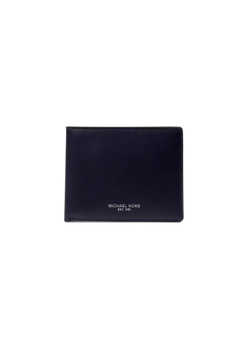 Michael Kors Odin Bi-Fold Leather Wallet