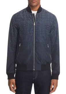 Michael Kors Ombr� Grid-Print Bomber Jacket