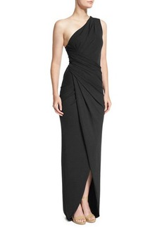 Michael Kors One-Shoulder Twisted Gown