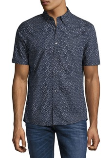 Michael Kors Otis Geo-Print Slim-Fit Short-Sleeve Shirt
