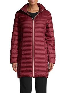 Michael Kors Packable Long Quilt Coat