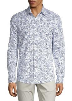 Michael Kors Paisley-Print Button-Down Shirt