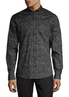 Michael Kors Paisley Printed Button-Down Shirt