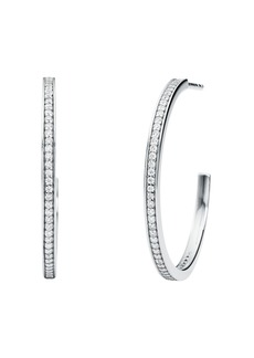 Michael Kors Pav� Mercer Link Hoop Earrings in Sterling Silver, 14K Gold-Plated Sterling Silver or 14K Rose Gold-Plated Sterling Silver