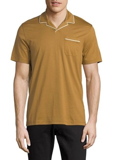 Michael Kors Piped Johnny Collar Cotton Polo