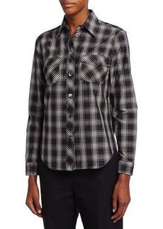Michael Kors Plaid Patch-Pocket Shirt