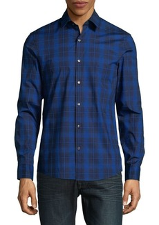 Michael Kors Plaid-Print Button-Down Shirt