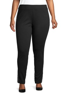 Michael Kors Plus Logo Side Panel Pants