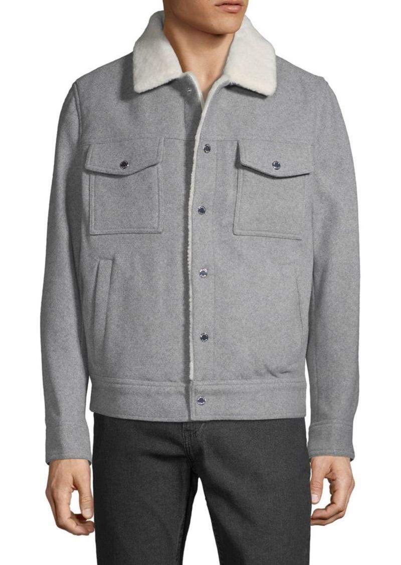 Michael Kors Plush Collar Jacket