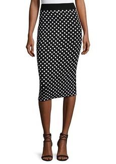 Michael Kors Collection Polka-Dot Pencil Skirt