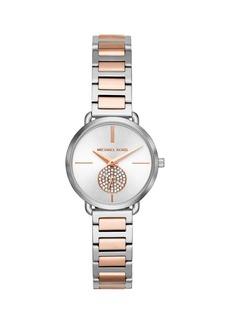 Michael Kors Portia Two-Tone Stainless Steel & Crystal Bracelet Watch