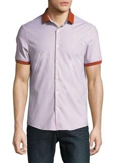 Michael Kors Printed Contrast-Tip Short-Sleeve Shirt