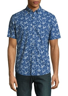 Michael Kors Printed Cotton Button-Down Shirt