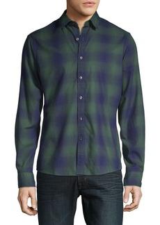 Michael Kors Printed Slim-Fit Button-Down Shirt
