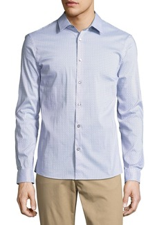 Michael Kors Printed Slim-Fit Stretch Shirt