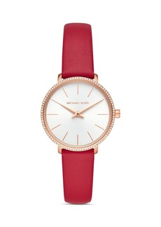 Michael Kors Pyper Leather Strap Watch, 32mm