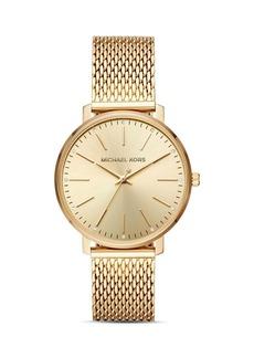 Michael Kors Pyper Monochrome Mesh Bracelet Watch, 38mm