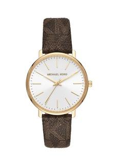 Michael Kors Pyper Monogram-Strap Watch