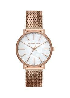 Michael Kors Pyper Stainless Steel & Crystal Bracelet Watch