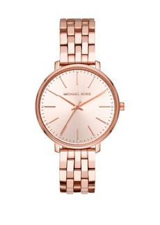 Michael Kors Pyper Three-Hand Rose Goldtone Stainless Steel Watch
