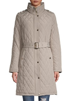 Michael Kors Quilted Belted Coat