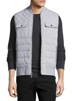 Michael Kors Quilted French Terry Knit Vest
