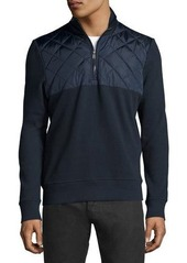 Michael Kors Quilted Zip-Up Knit Jacket
