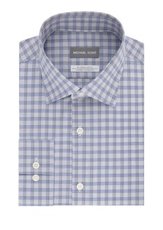 Michael Kors Regular-Fit Airsoft Stretch Check Dress Shirt