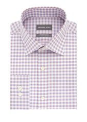 Michael Kors Regular-Fit Airsoft Stretch Check Dress Shirt