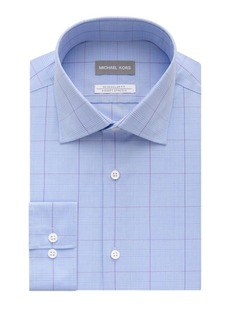 Michael Kors Regular-Fit Airsoft Stretch Exploded Check Dress Shirt