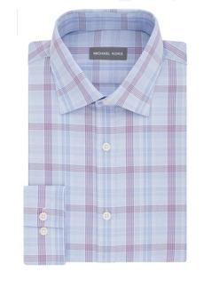 Michael Kors Regular-Fit Airsoft Cotton Check Dress Shirt