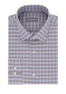 Michael Kors Regular-Fit Checked Dress Shirt