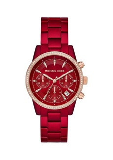 Michael Kors Ritz Two-Tone Stainless Steel & Crystal Bracelet Chronograph Watch
