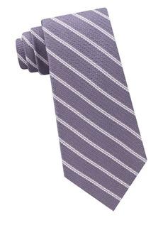 Michael Kors Roped Stripe Woven Silk Tie
