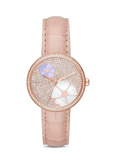 Michael Kors Rose Gold-Tone Courtney Floral Pav� Watch, 36mm