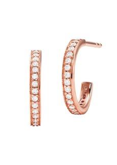 Michael Kors Rose Goldplated Sterling Silver and Cubic Zirconia Mini Huggie Hoop Earrings