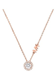Michael Kors Rose Goldplated Sterling Silver and Cubic Zirconia Pendant Necklace