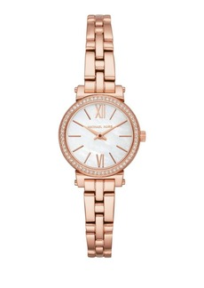 Michael Kors Rose Goldtone Round Bracelet Watch