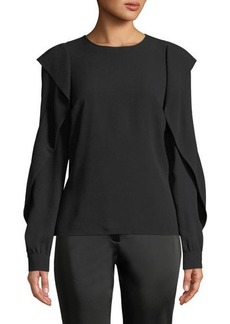 Michael Kors Collection Ruffled-Long-Sleeve Blouse