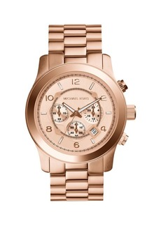 Michael Kors Runway Chronograph Rose Goldtone Stainless Steel Watch
