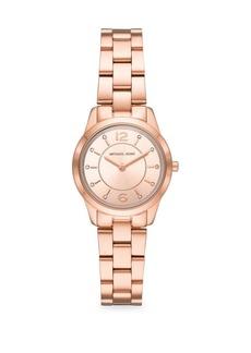 Michael Kors Runway Crystal Marker Rose Goldtone Stainless Steel Watch