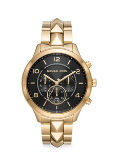 Michael Kors Runway Mercer Goldtone Stainless Steel Bracelet Chronograph Watch