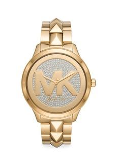 Michael Kors Runway Mercer Pavé Stainless Steel Bracelet Watch