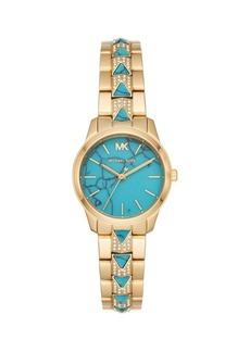 Michael Kors Runway Mercer Yellow Goldtone Stainless Steel Bracelet Watch